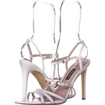 Nine West Gilficco Strappy Sandals 156, White Leather, 7.5 US - $27.06