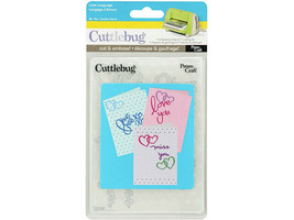 Provo Craft Cuttlebug Love Language Embossing Folder and Die #37-1161