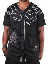40 Oz New York Forty Ounce NYC Black Spider Web Baseball Jersey 03492F NWT