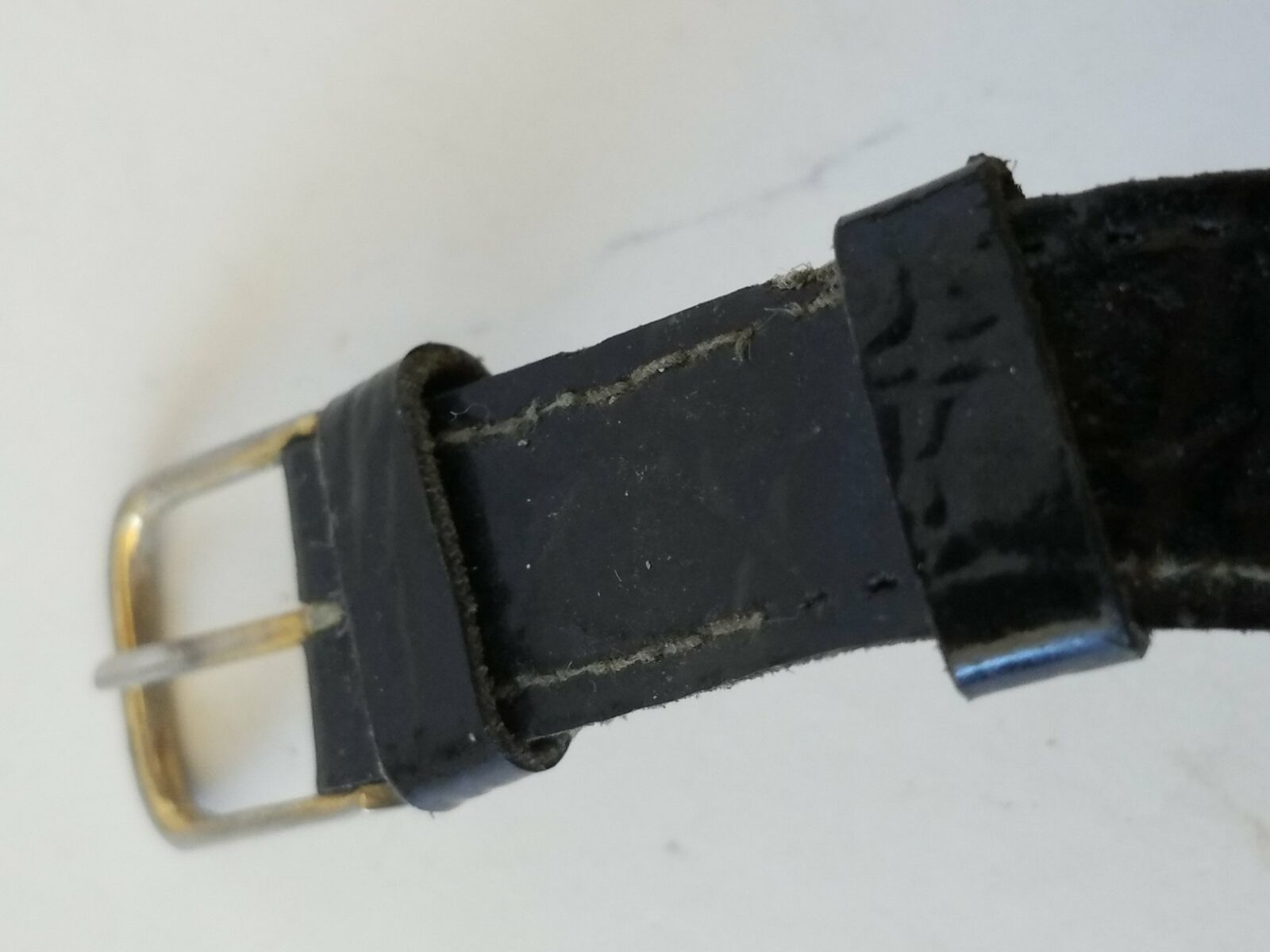 Vintage Collezio Analog Quartz Watch Black Leather Strap Band