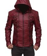 Roy Harper Maroon Arrow Jacket, Men Leather Jacket, Celebrity Jackets for Men 20 - $159.99 - $169.99