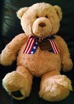 Gund 2002 Wish Bear 100th Anniversary Plush Teddy Bear Patriotic May Dep... - $14.55