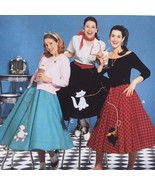 Simplicity Sewing Pattern 5403 Misses Costume Poodle Circle Skirt Size 1... - $15.65