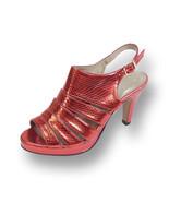 FIC FLORAL Jules Women Wide Width High Heel Open Round Toe Platform Slin... - $44.95
