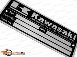 Kawasaki Blank Data Plate ID Tag Frame For Vintage Kawasaki Z1 Z900 Z1 K... - $11.02