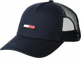 Tommy Hilfiger Men's Logo Baseball Cap Mesh Snap Back Trucker Hat AU00561 image 2