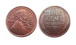Hobo Nickel Lincoln Skull Skeleton Wheat Penny One Cent American US Nick... - $11.99