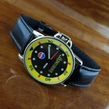 New Old Stock 1980's Vintage Mens PEPSI Cola Advertising Watch Generatio... - $29.95
