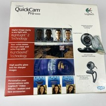 Logitech QuickCam Pro 5000 Webcam for Windows 2000 or XP only NEW Open Box - $28.03