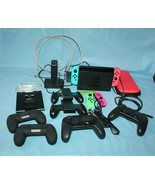 Nintendo Switch Video Game Console With Joy Con And Pro Controllers 20 P... - $519.74