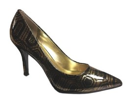 Nine West Flax Black/Gold Ladies Size 7.5 M - $49.49