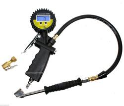 Digital Pressure Gauge Valves Tire Inflator Dial Dual Chuck Clip-On 0-25... - $38.56