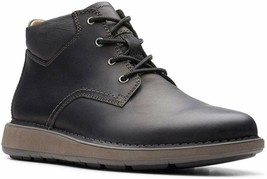 Mens Clarks Unstructured Larvik Top Ankle Boots - Black Leather [261 44603] - €110,67 EUR