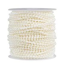 Pearl Garland - Round Pearl Bead Trim Spool for DIY Crafts, 3mm in Diameter, 33