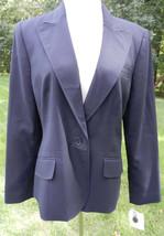 ANNE KLEIN Dark Navy Classic LS Blazer Fully Lined Front Pockets Sz 16 N... - $148.49