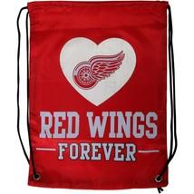 Detroit Red Wings ❤ Forever NHL Hockey Nylon Drawstring Backpack Gym Bag - $12.34