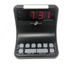 DEAFWORKS Futuristic 2 Dual Alarm Clock with Flashing or Steady Light mo... - $51.90