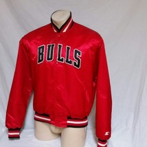 VTG Chicago Bulls Starter Satin Jacket 90s Authentics Coat NBA Pro Line ... - $129.99