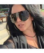 Shield Sunglasses Women Men Polarized Black Oversized Glasses 2019 Sun G... - $69.92