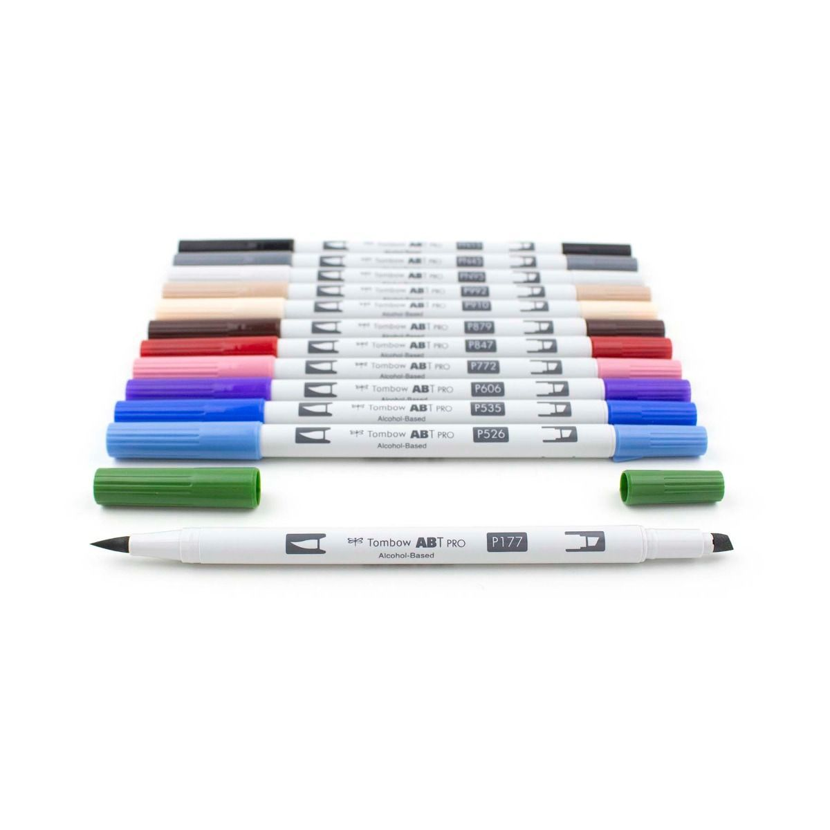 Primary image for ABT PRO 12-Color Brush Art Markers (Brush & Chisel Tip)-Fashion Palette, Tombow