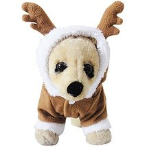 NACOCO Pet Costumes Dog Christmas Suit Dog Elk Santa Costume Polar Fleec... - $10.88
