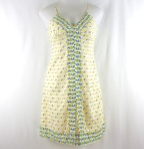Gap Fitted Sundress 6 Yellow Adjustable Straps 100% Cotton EUC - $26.08