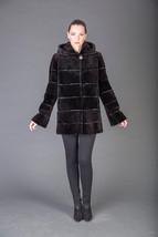 Luxury gift/ Beaver Fur Coat /Hooded/Wedding,or anniversary present/MEXA - $1,150.00