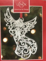Lenox Sparkle and Scroll Multi Angel Ornament Praying with Wings Spread NEW - $13.45