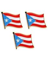 """Lote de 3 Puerto Rico Pin Broche Bandera 0.5"""" Rica Nuevo Solapa Sombrero... - $6.86"""