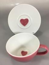 Starbucks Pink Heart Valentine Coffee Cup & Saucer 2005 - $32.83