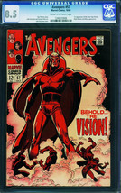 Avengers #57 CGC 8.5 - first appearance of THE VISION! Marvel 1346220006 - $989.40