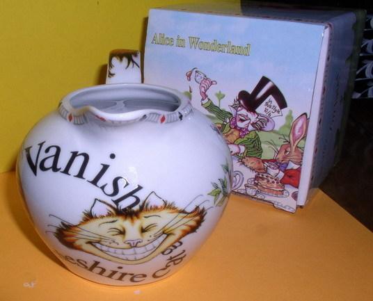 Alice in Wonderland  Creamer made of porcelain