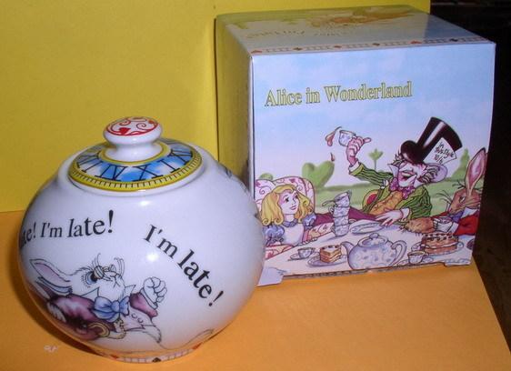 Alice in Wonderland  Sugar Bowl made of porcelain