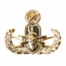 Genuine U.S. Navy Explosive Ordnance Disposal Officer Breast Badge Pin Insignia - $15.82