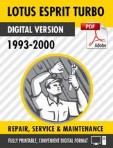 1993-2000 LOTUS ESPRIT TURBO FACTORY SERVICE REPAIR MANUAL & PARTS MANUAL - $13.86
