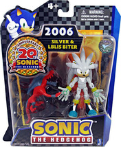 Sonic 20th Anniversary: 3.5'' 2006 Silver & Iblis Biter Action Figure NEW!  - $79.99