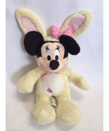 Disney Store Minnie Mouse Yellow Bunny Rabbit Costume Plush Pink Polka D... - $11.17