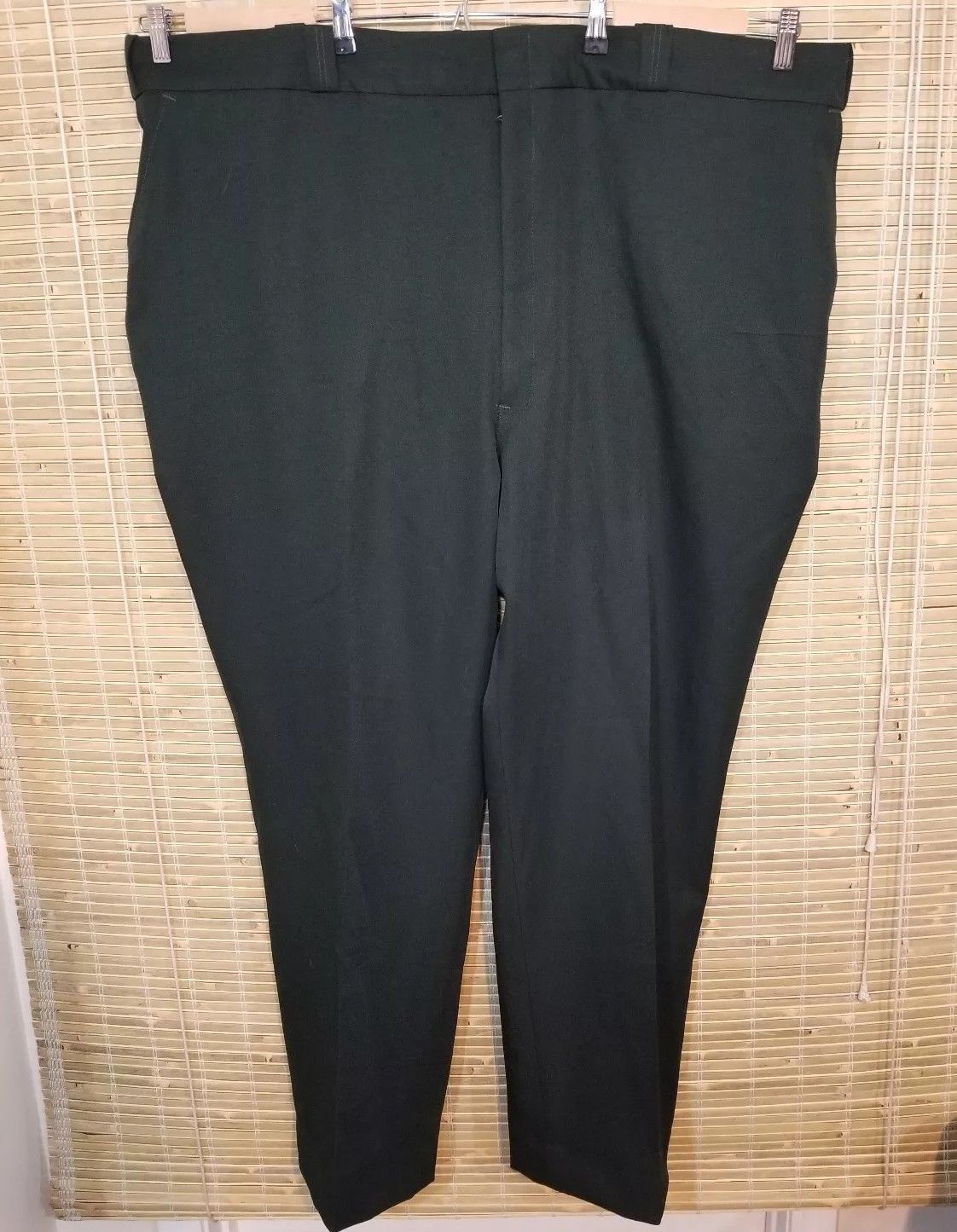 Primary image for ELBECO MEN'S UNIFORM PANTS HUNTER GREEN HEMMED 54 X 32 100% POLYESTER RN 25214