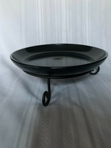 """Longaberger Wrought Iron Bowl 8"""" Round with Black 10"""" plate - $28.04"""