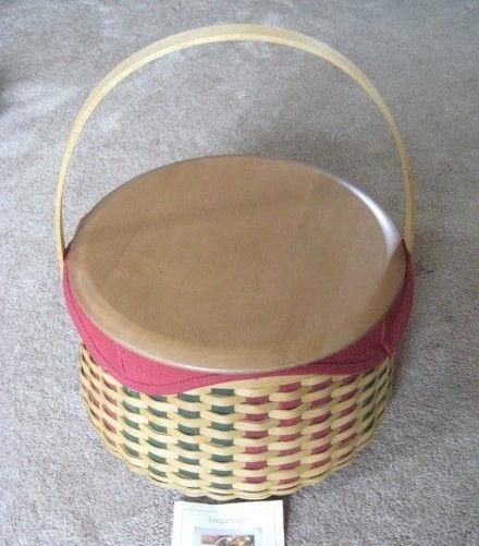 Longaberger Christmas 2003 Joyful Chorus Basket Lid Cover Ivy Green New In Bag