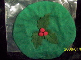 Longaberger Christmas 2003 Joyful Chorus Basket Lid Cover Ivy Green New In Bag - $10.84