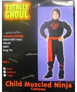 Child's Muscled Ninja Halloween Costume, Small 3-5, NEW UNUSED - $7.84