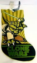 Star Wars YODA Clone Wars Green Christmas Stocking Retired Kurt Adler 17... - $11.37