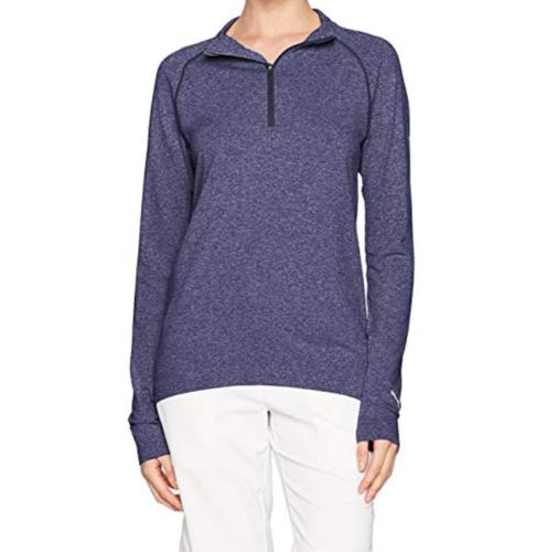 Medium 8-10 PUMA Golf Women's Evoknit 1/4 Zip Pullover Long Sleeve Shirt