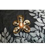 SALE! Vintage Cameo Brooch Pendant with Rhinestones - $8.99
