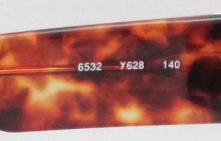 Yves Saint Laurent 6532 Y628 New Vintage Cateye Sunglas