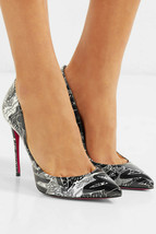 Christian Louboutin  Pigalle Follies Nicograf 100 Graffiti Pumps Shoes 37.5 - $459.99