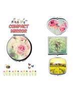 Spring flower makeup mirror compact mirror purse mirror travel mirror - $11.99