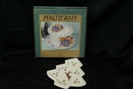 Pfaltzgraff Nordic Christmas Tier Tray and Tree Plate Lot of 2 - $35.27