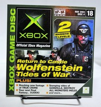 Xbox Magazine Disc #18 Demos May 2003 Return To Castle Wolfenstein True Crime - $5.94